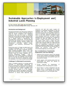 Sustainable Approaches to Industrial Lands