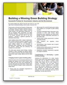Winning Green Building Policies